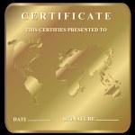 The certificate — Stock Vector