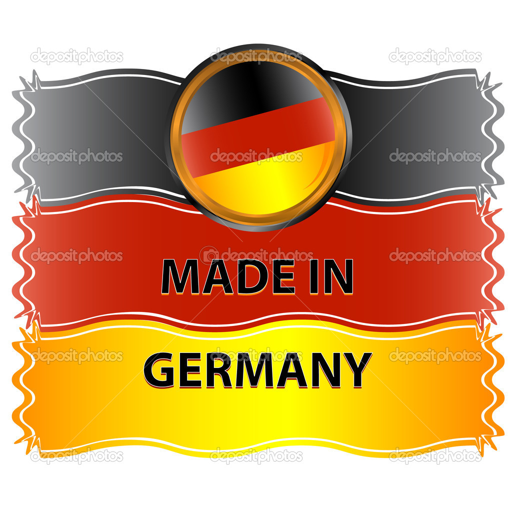 Icon made in germany on a white background — Stock Vector #11962060