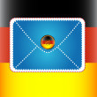 Royalty-Free Stock Vector Image: The letter with german flag