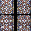 Stained-glass window in Catholic temple — Stock Photo #11645239