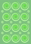 Green swirls background — Stock Photo