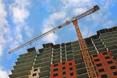 Under construction residential unit — Stock Photo