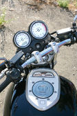 Motorcycle speedometer tachometre — Stock Photo