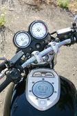 Motorfiets snelheidsmeter tachometre — Stockfoto