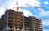 Building of new residential unit — Stock Photo