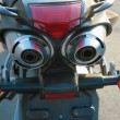 Exhaust pipe of motorcycle — Stock Photo