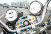 Speedometer and motorcycle tachometre — Foto Stock