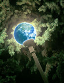 Shone globe — Stock Photo