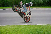 Truco en moto — Foto de Stock