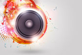 Music Loud Speaker Funky Background — Stock Photo