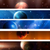 Space Planet Banners — Stock Photo
