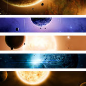 Space and Universe Banners — Stock Photo