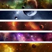 Space Galaxy Banner — Stock Photo