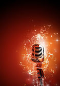 Sound Microphone music background — Stock Photo