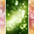 Colorful Bokeh Backgrounds Set — Stock Photo