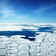 Stock Photo: Broken Ice In Sea