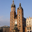 St. Mary&amp;#039;s Church, famous landmark in Krakow - Stock Photo