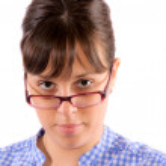 Woman Wearing Glasses — Stock Photo #10758279