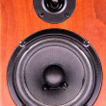 Wooden speaker — Stock Photo #10885685