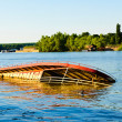 Stock Photo: Sinking boat