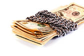 Dinero bloqueado — Foto de Stock