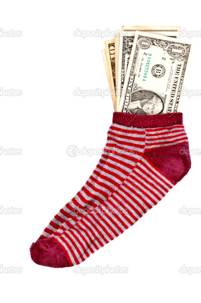 Money in the sock — Stock Photo #11324528