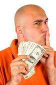 Stealing money — Stock Photo