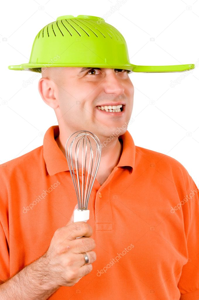 Funny man with the hat — Stock Photo #11393377