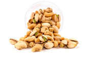Splashed nuts mix — Stockfoto