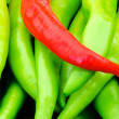 Red and green peppers — Stock Photo