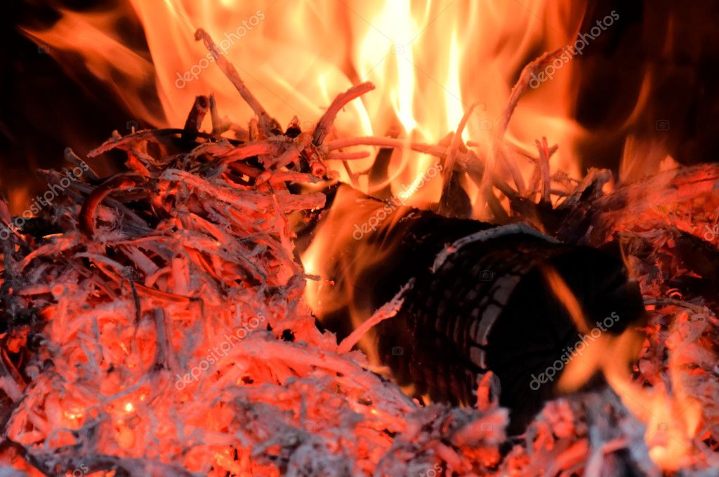 Wood in the fire — Stock Photo #11755909