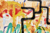 Graffiti muur — Stockfoto
