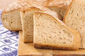 黒のパンのスライス — ストック写真