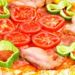 Pizza decoration — Stock Photo