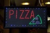 Pizza publicidad — Foto de Stock