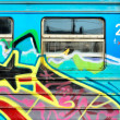 Graffiti and coach — Stockfoto #11918687