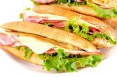Deliciosos sandwichs — Foto de Stock