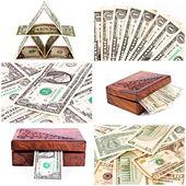 Dollar collage — Stock Photo