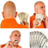 Muž s penězi — Stock fotografie
