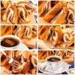 Royalty-Free Stock Photo: Marble cake collage