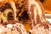 Chocolate crumbles — Stock Photo
