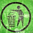 Stock Photo: Trash sign