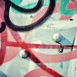 Foto de Stock  : Graffiti and metal