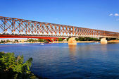 παλιά σιδηροδρομική γέφυρα — Φωτογραφία Αρχείου