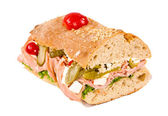 Halbe sandwich — Stockfoto