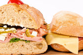 Closeup sandwichs — Stockfoto