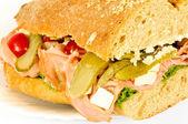 側面ビュー サンドイッチ — ストック写真