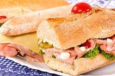 Sandwich linje — Stockfoto