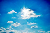 Dramatic sun and sky — Stock Photo