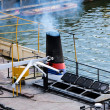 Boat pollute — Stock Photo